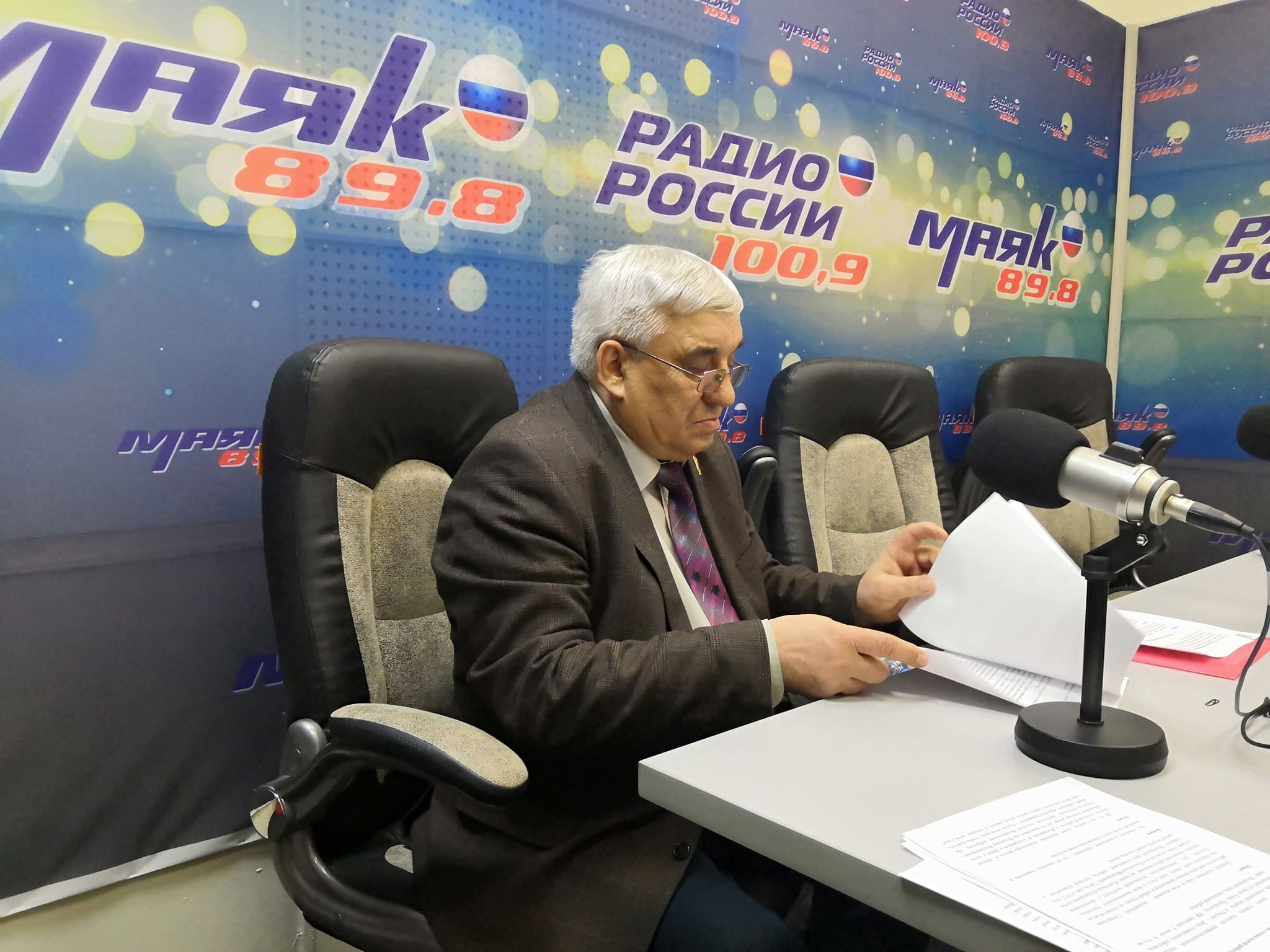 Выступление на областном радио